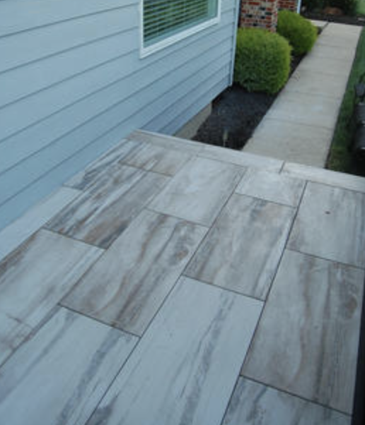 porcelain pavers wood deck