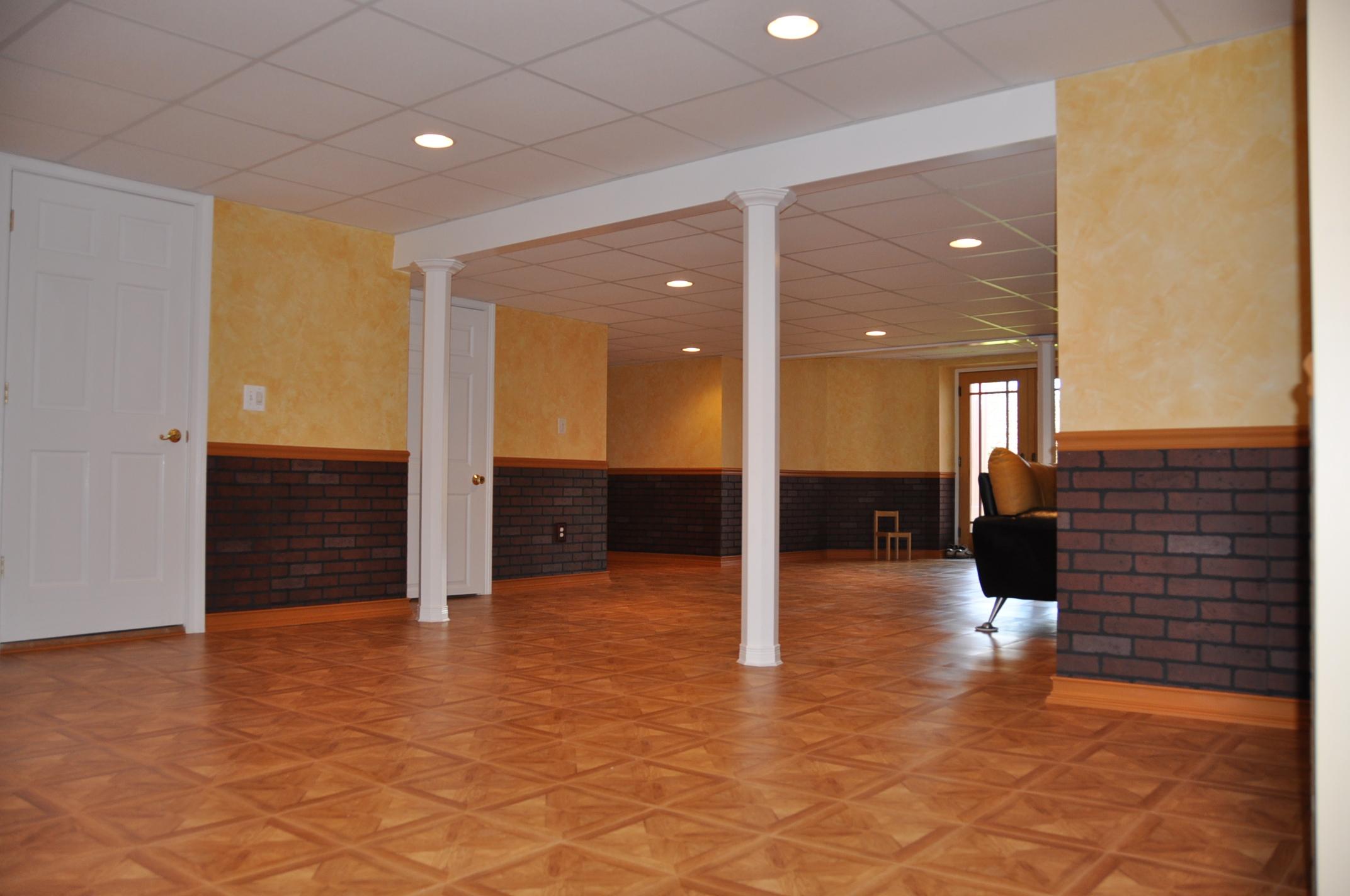 vinyl tiles basement