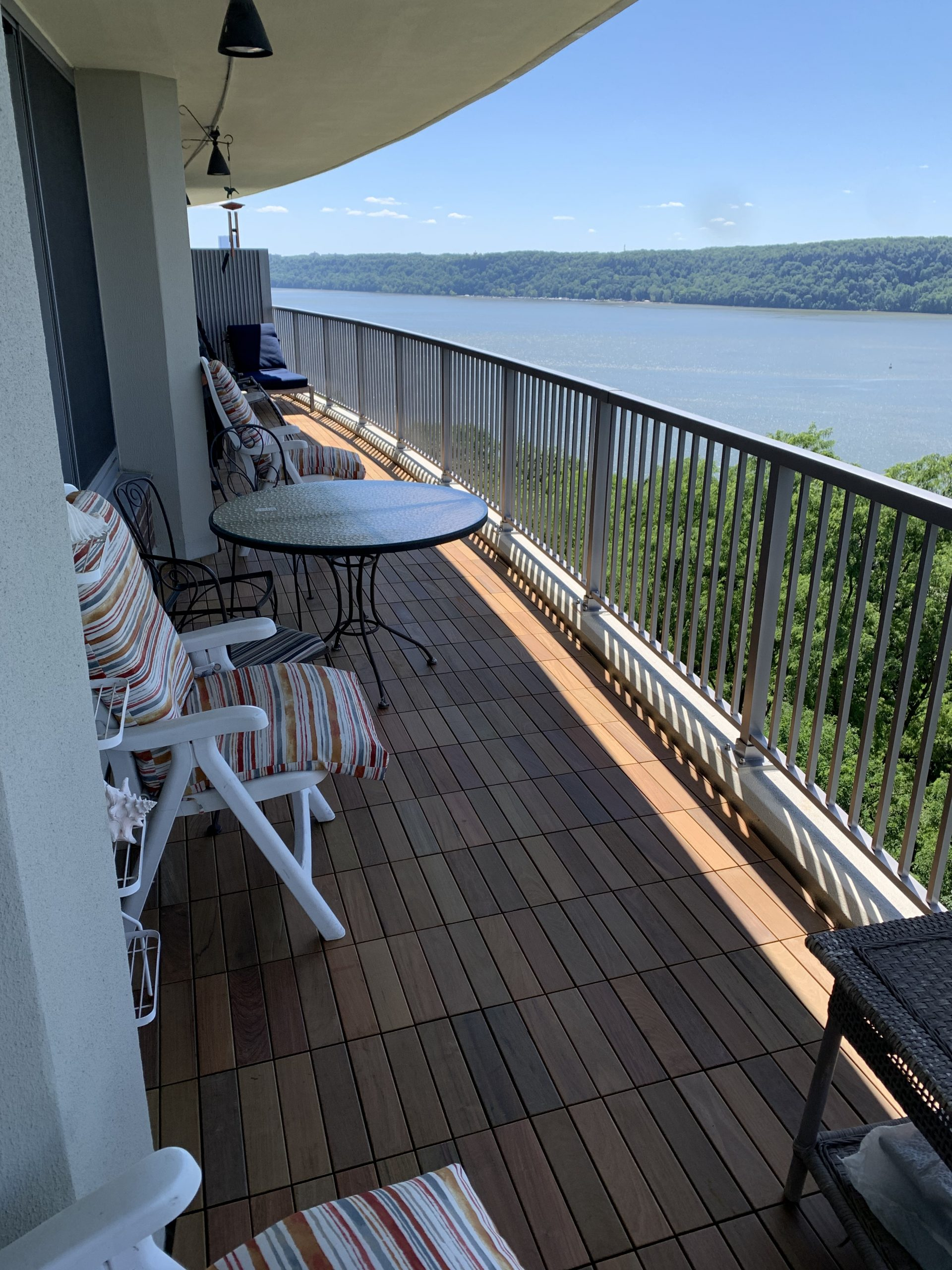 Before and After Ipe Wood Deck Tiles