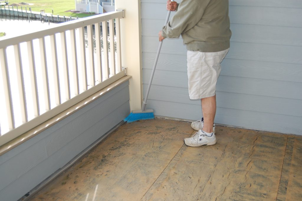 Sweeping the subsurface for Composite Deck Tiles