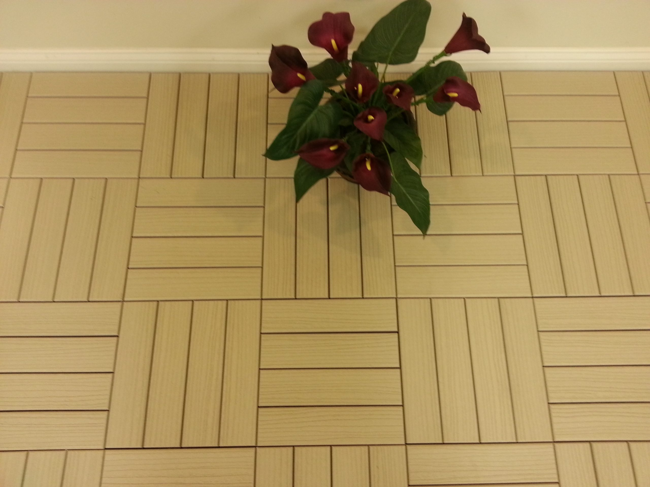 WS Tan 4 Slat Basketweave Woodgrain Pattern